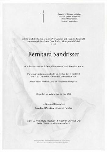 Bernhard Sandrisser