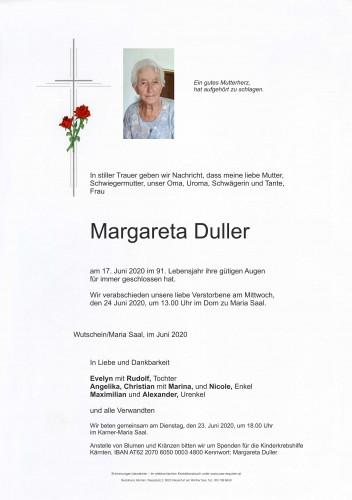 Margareta Duller