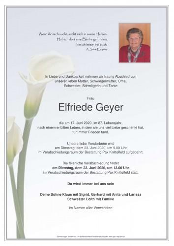 Elfriede Geyer