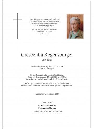 Crescentia Regensburger