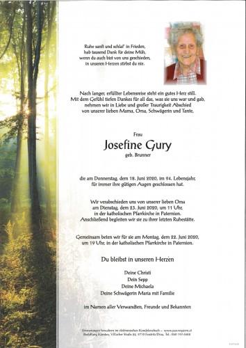 Josefine Gury, geb. Brunner