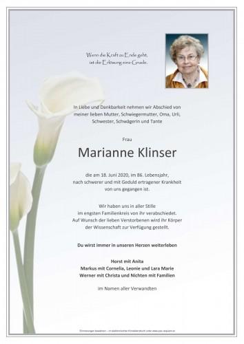 Marianne Klinser