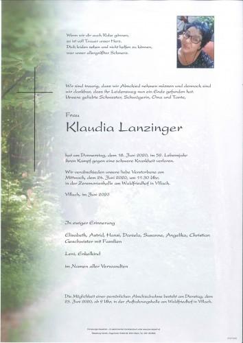 Klaudia Lanzinger