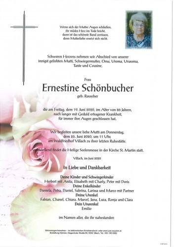 Ernestine Schönbucher, geb. Rauscher