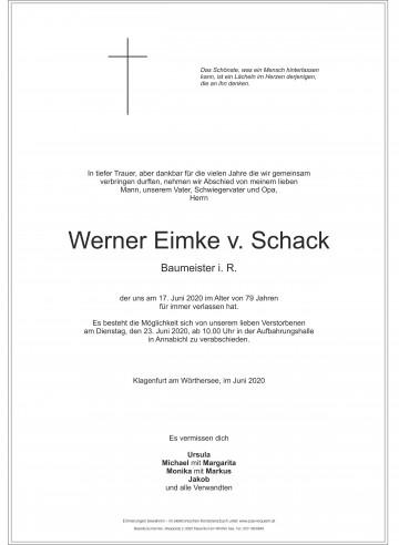 Werner Eimke v. Schack