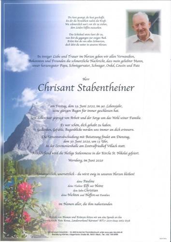 Chrisant Stabentheiner