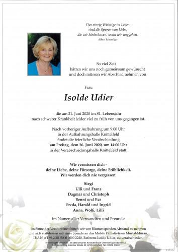 Isolde Udier