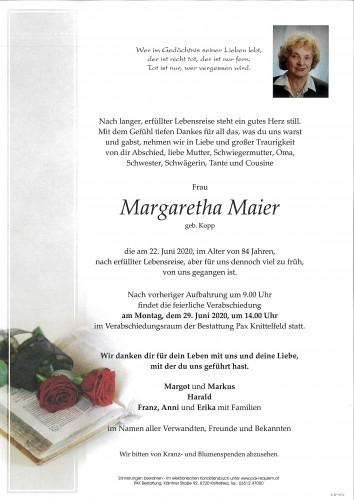 Margaretha Maier