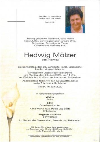 Hedwig Mölzer geb. Planteu