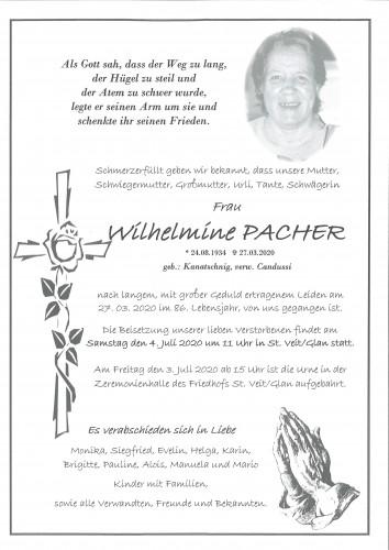 Wilhelmine Pacher  geb. Kanatschnig