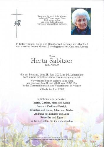 Herta Sabitzer geb. Allesch