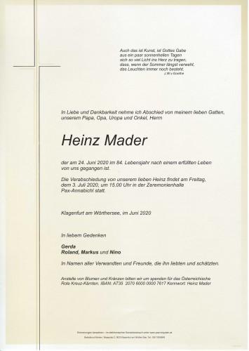 Heinz Mader
