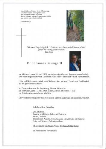 Dr. Johannes Baumgartl