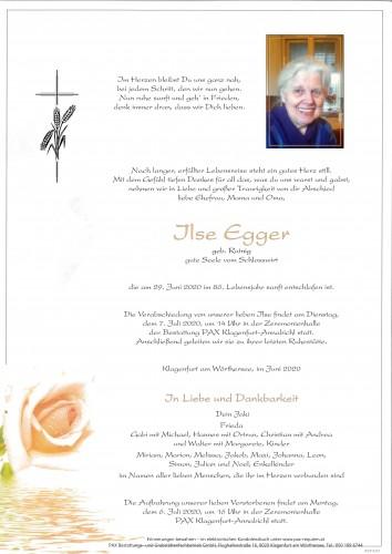 "Elisabeth ""Ilse"" Egger"