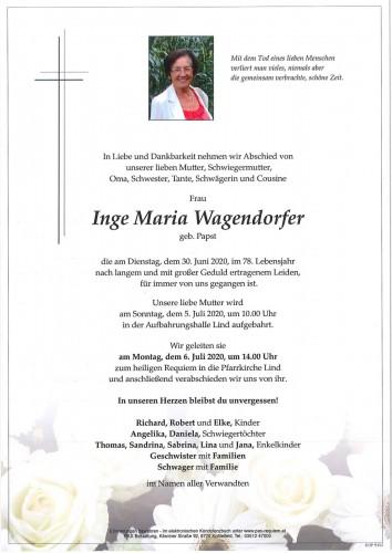 Inge Maria Wagendorfer