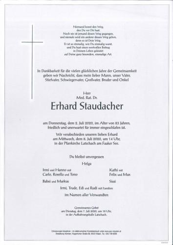 Med. Rat. Dr. Erhard Staudacher