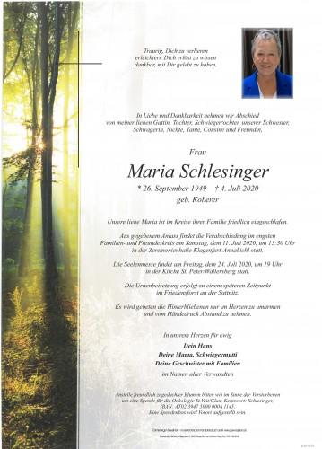 Maria Schlesinger