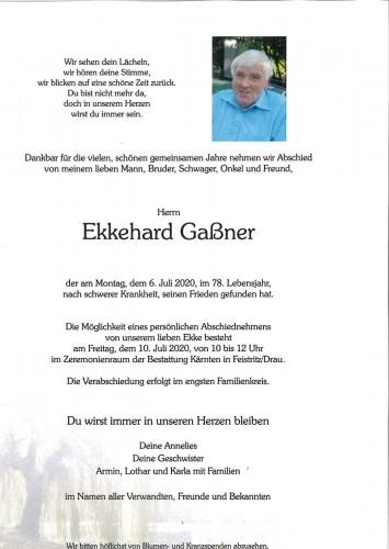 Ekkehard Gaßner