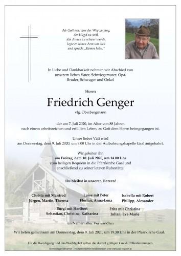 Friedrich Genger, vlg. Oberbergmann