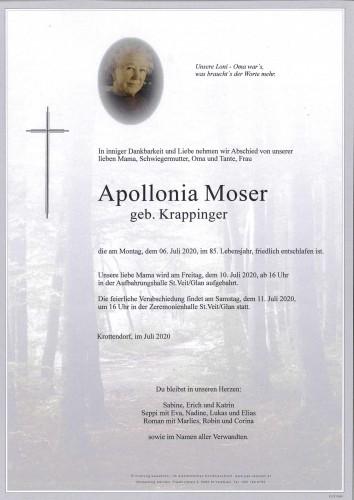Apollonia Moser  geb. Krappinger