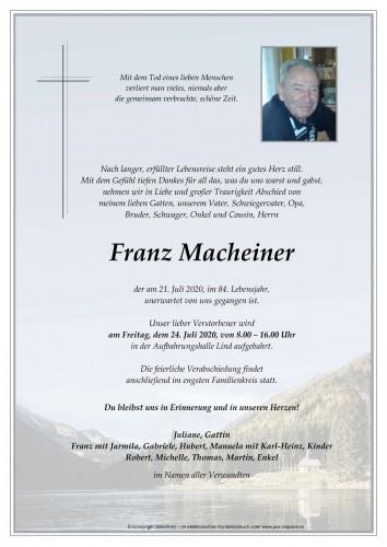 Franz Macheiner