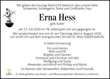 Hess Erna