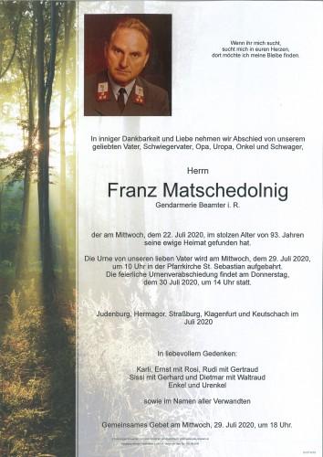 Franz Matschedolnig