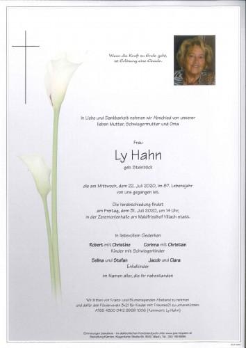 Ly Hahn geb. Steinböck