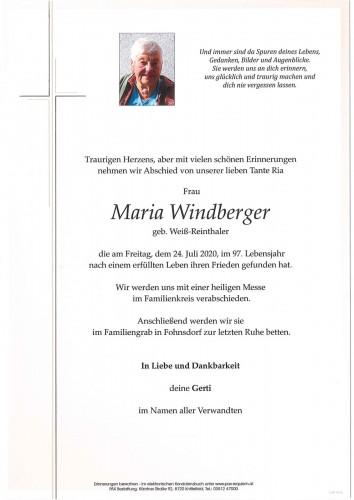 Maria Windberger geb. Weiß-Reinthaler