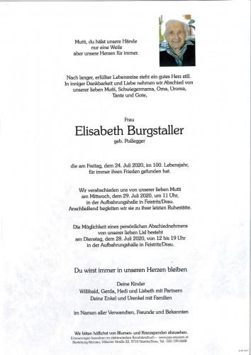Elisabeth Burgstaller, geb Poßegger