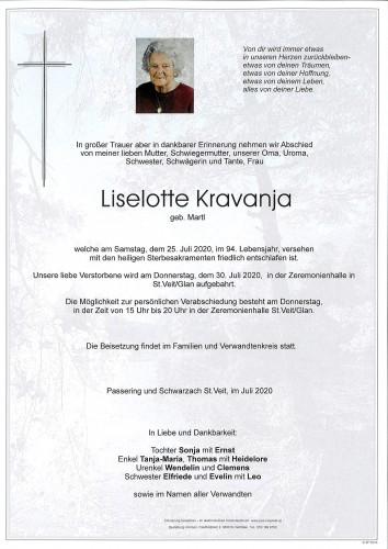 Liselotte Kravanja  geb. Martl