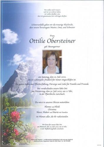 Ottilie Obersteiner geb. Baumgartner