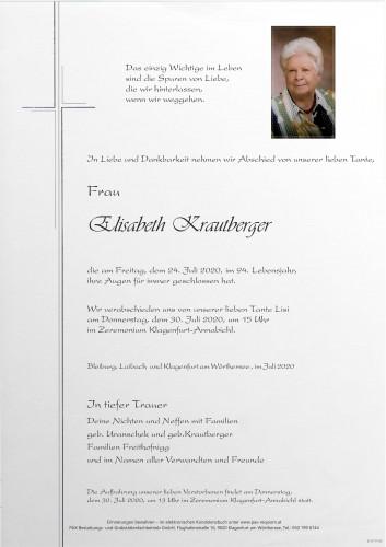 Elisabeth Lisi Krautberger
