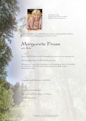 Margarete Frass geb. Bahr