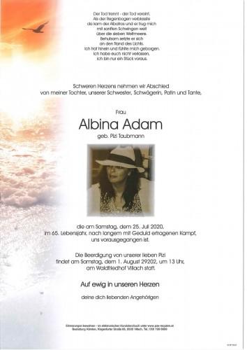 Albina Adam, geb. Pizi Taubmann