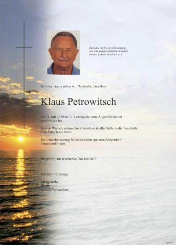Klaus Petrowitsch