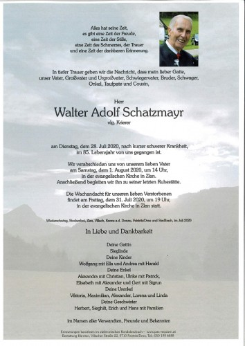 Walter Schatzmayr. vlg Krierer