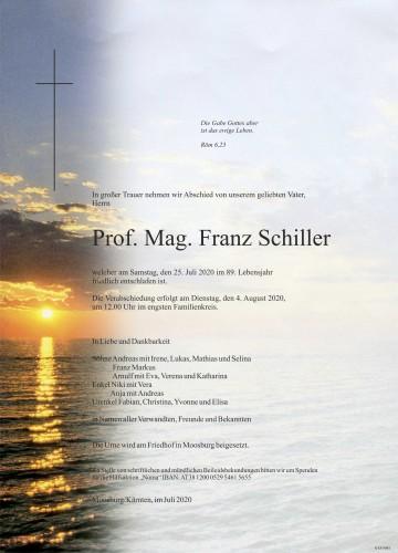 Prof. Mag. Franz Schiller