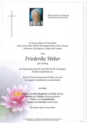 Friederike Weber geb. Zellnig