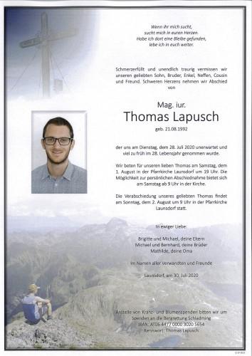 Mag. iur. Thomas Lapusch