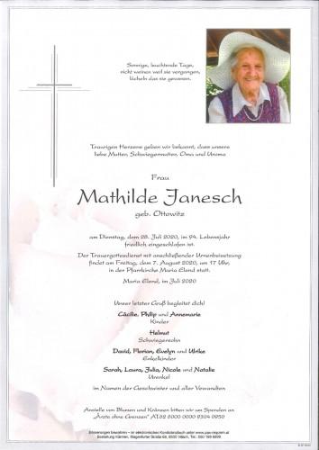 Mathilde Janesch geb. Ottowitz