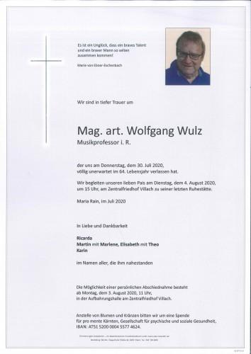 Mag. art. Wolfgang Wulz