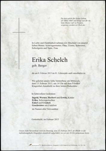 SCHELCH Erika