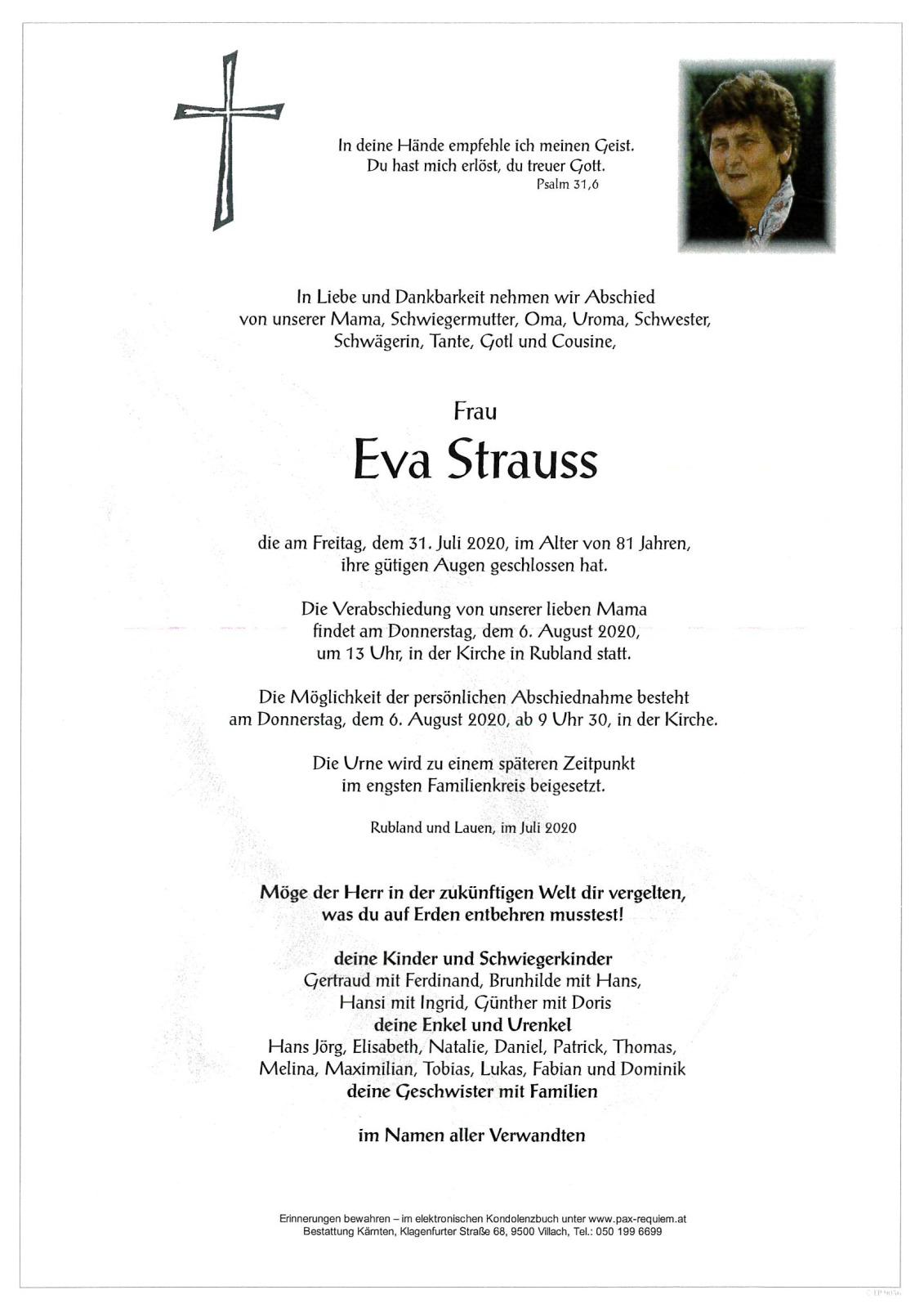 Strauss eva Eva Strauss