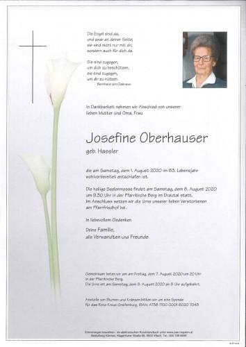 Josefine Oberhauser, geb. Hassler