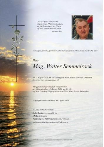 Mag. Walter Semmelrock
