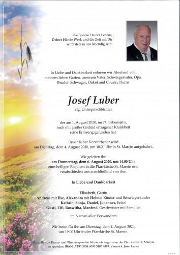 Josef Luber, vlg. Unterpirschbichler