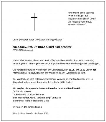 Dr. med. vet. Kurt Karl Arbeiter