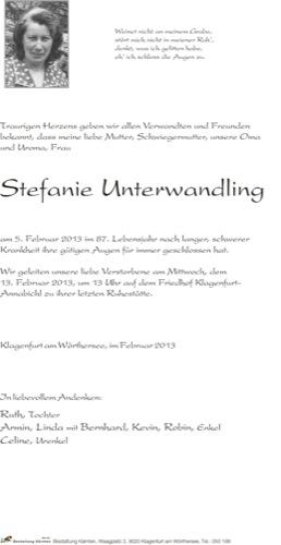 UNTERWANDLING Stefanie