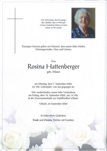 Rosina Hattenberger
